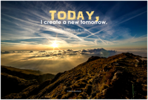 Today I create a new  tomorrow