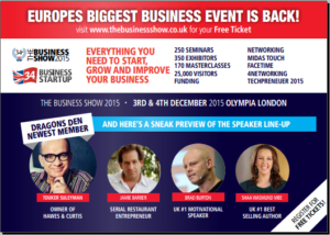 Get your invite to the Business Show Olympia London